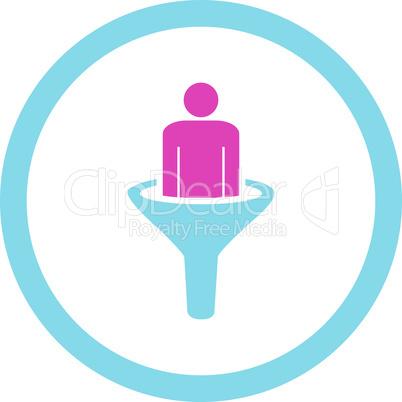 BiColor Pink-Blue--sales funnel.eps