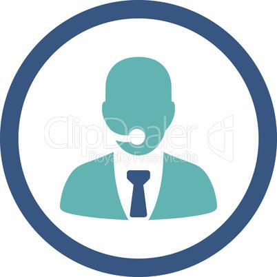 BiColor Cyan-Blue--call center operator.eps