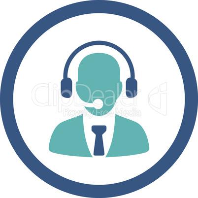 BiColor Cyan-Blue--call center.eps