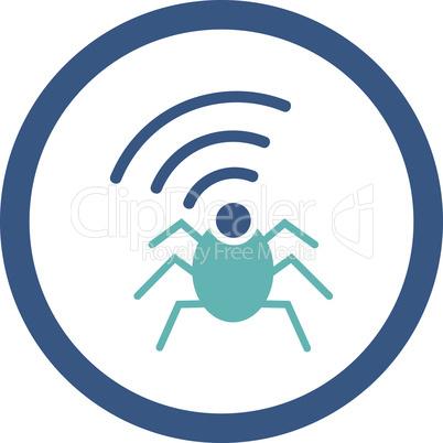 BiColor Cyan-Blue--radio spy bug.eps