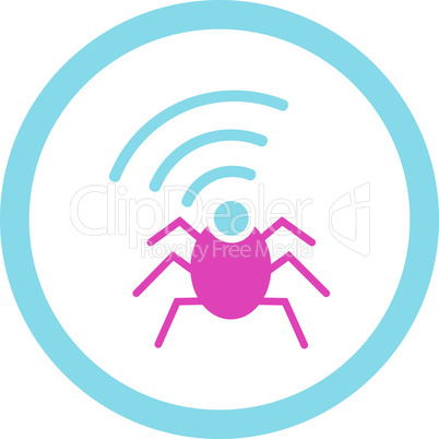 BiColor Pink-Blue--radio spy bug.eps