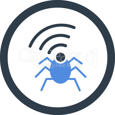 BiColor Smooth Blue--radio spy bug.eps