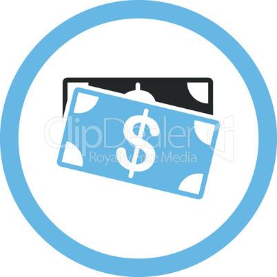 Bicolor Blue-Gray--dollar banknotes.eps