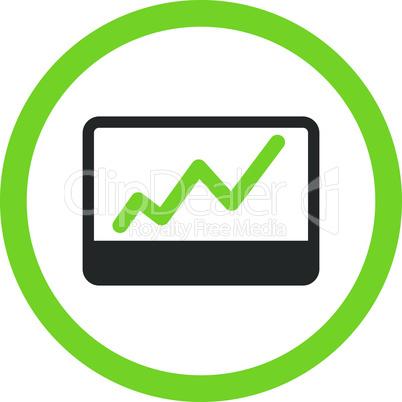 Bicolor Eco_Green-Gray--stock market.eps