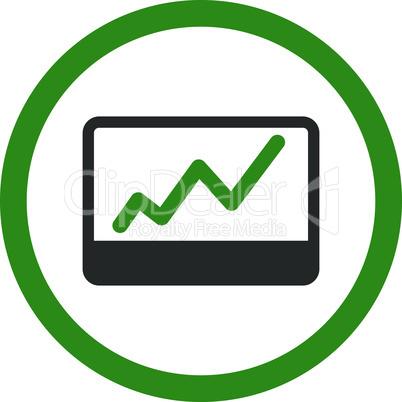 Bicolor Green-Gray--stock market.eps