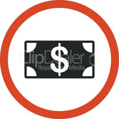 Bicolor Orange-Gray--banknote.eps