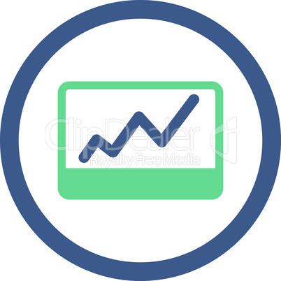 BiColor Cobalt-Cyan--stock market.eps
