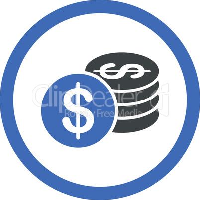 BiColor Cobalt-Gray--dollar coins.eps