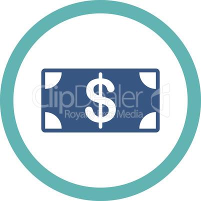 BiColor Cyan-Blue--banknote.eps