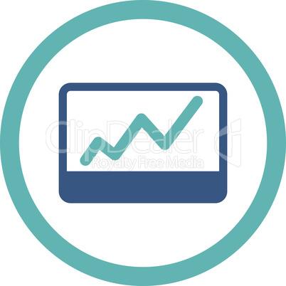 BiColor Cyan-Blue--stock market.eps