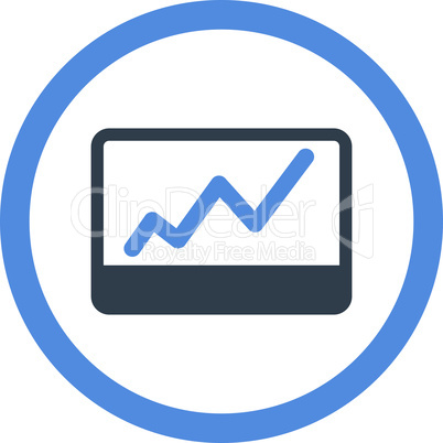 BiColor Smooth Blue--stock market.eps
