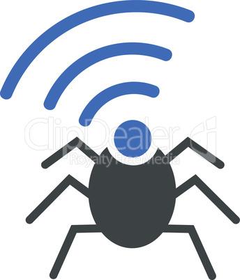 radio spy bug--BiColor Cobalt-Gray.eps