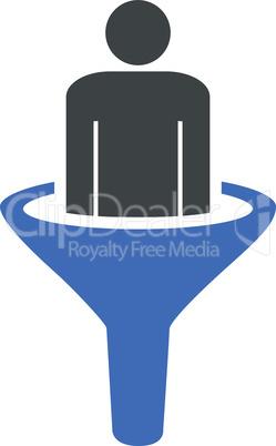 sales funnel--BiColor Cobalt-Gray.eps