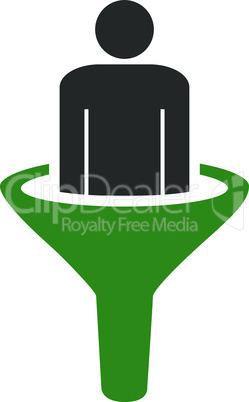 sales funnel--Bicolor Green-Gray.eps