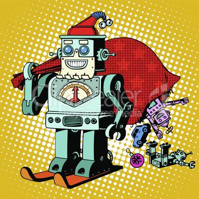 Robot Santa Claus Christmas gifts humor character