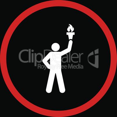 bg-Black Bicolor Red-White--freedom torch.eps