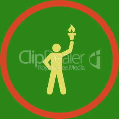 bg-Green Bicolor Orange-Yellow--freedom torch.eps