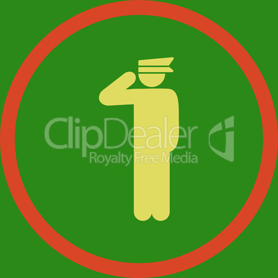 bg-Green Bicolor Orange-Yellow--police officer.eps