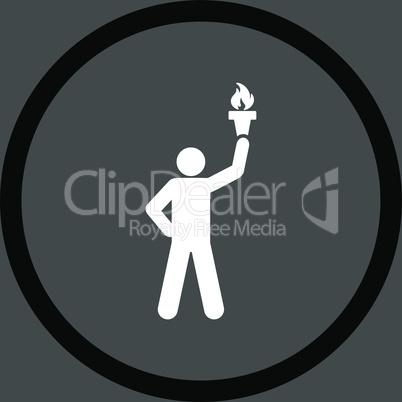 bg-Gray Bicolor Black-White--freedom torch.eps