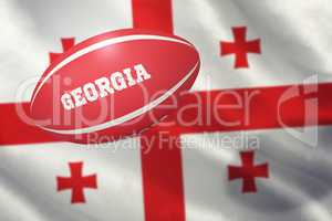 Composite image of georgia rugby ball