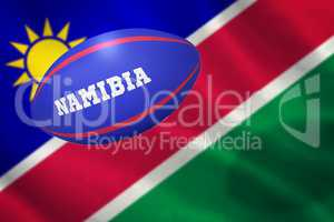 Composite image of rugby ball for namibia