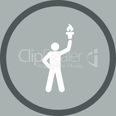 bg-Silver Bicolor Dark_Gray-White--freedom torch.eps