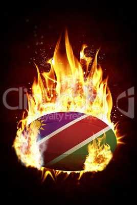 Composite image of namibia rugby ball