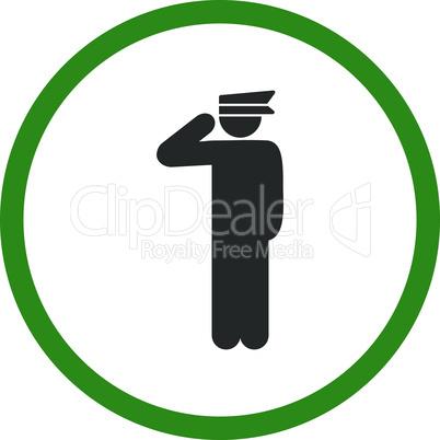 Bicolor Green-Gray--police officer.eps