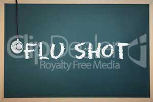 Flu shot against chalkboard