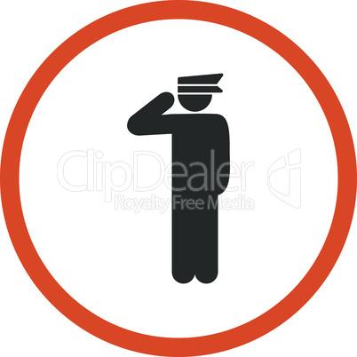 Bicolor Orange-Gray--police officer.eps