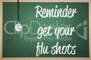 Composite image of flu shot reminder