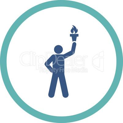 BiColor Cyan-Blue--freedom torch.eps