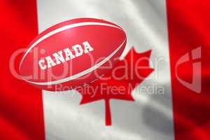 Composite image of canada rugby ball