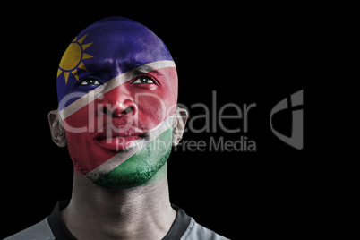 Composite image of namibia rugby player
