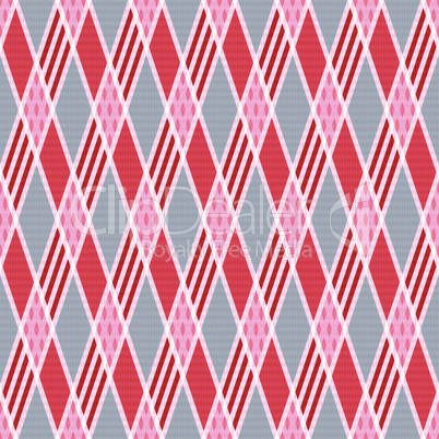 Rhombic seamless pattern in pink an gray trendy hues