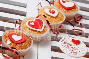 valentine's day muffins