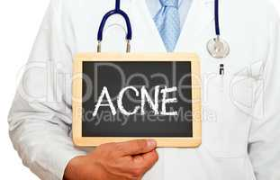 Acne - Doctor with chalkboard