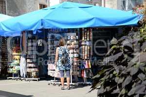 Markt in Rovinj, Istrien