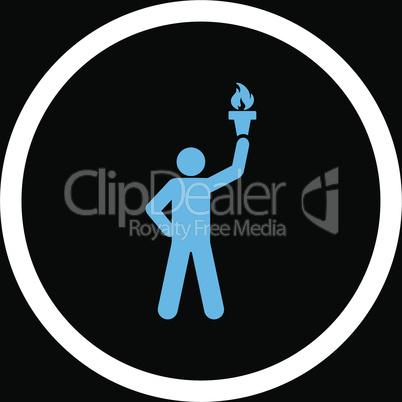 bg-Black Bicolor Blue-White--freedom torch.eps