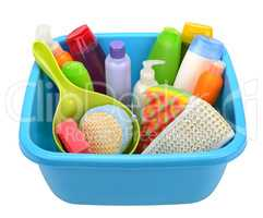 Hygiene products and basin