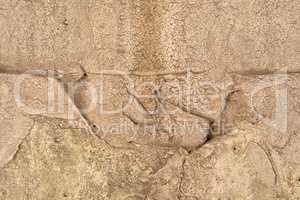 Weathered damaged wall