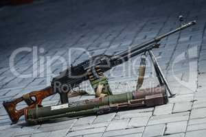 PKM and RPG-18 on the ground