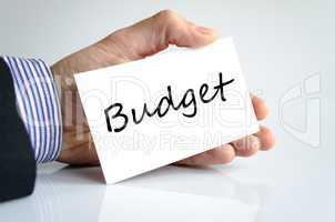 Budget text concept