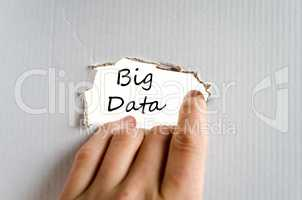 Big data text concept