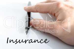 Insurance text concept