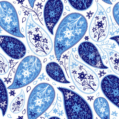 Multicolor Seamless Paisley Pattern