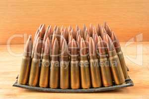 Clips  of 7.62x39 caliber ammunition