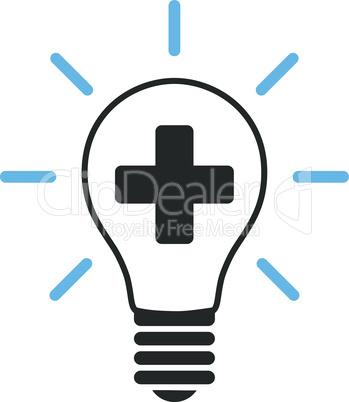 Bicolor Blue-Gray--creative medicine bulb.eps
