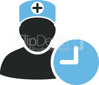 Bicolor Blue-Gray--doctor schedule.eps