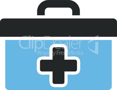 Bicolor Blue-Gray--first aid toolbox.eps
